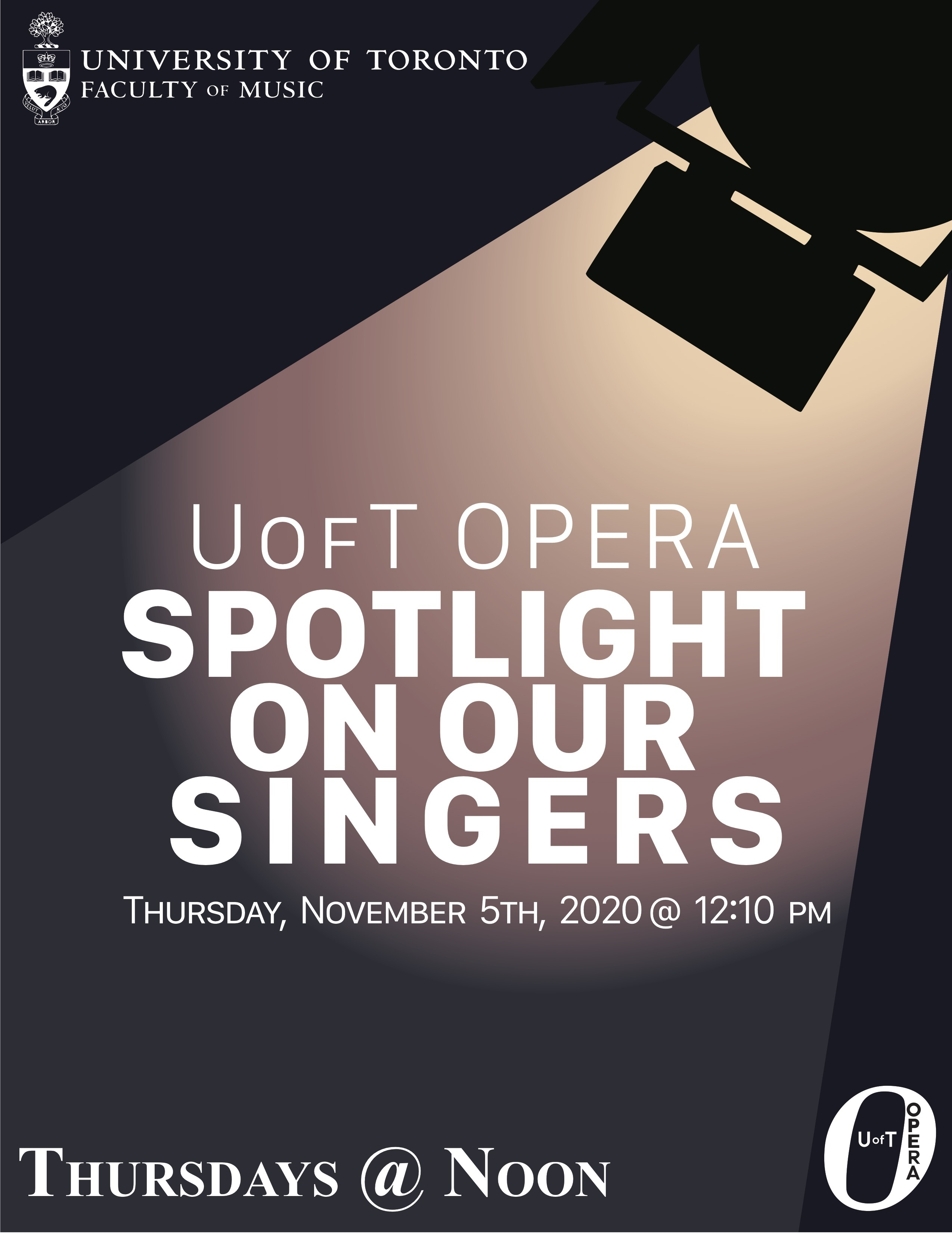U of T Opera presents Spotlight on our Singers (online)