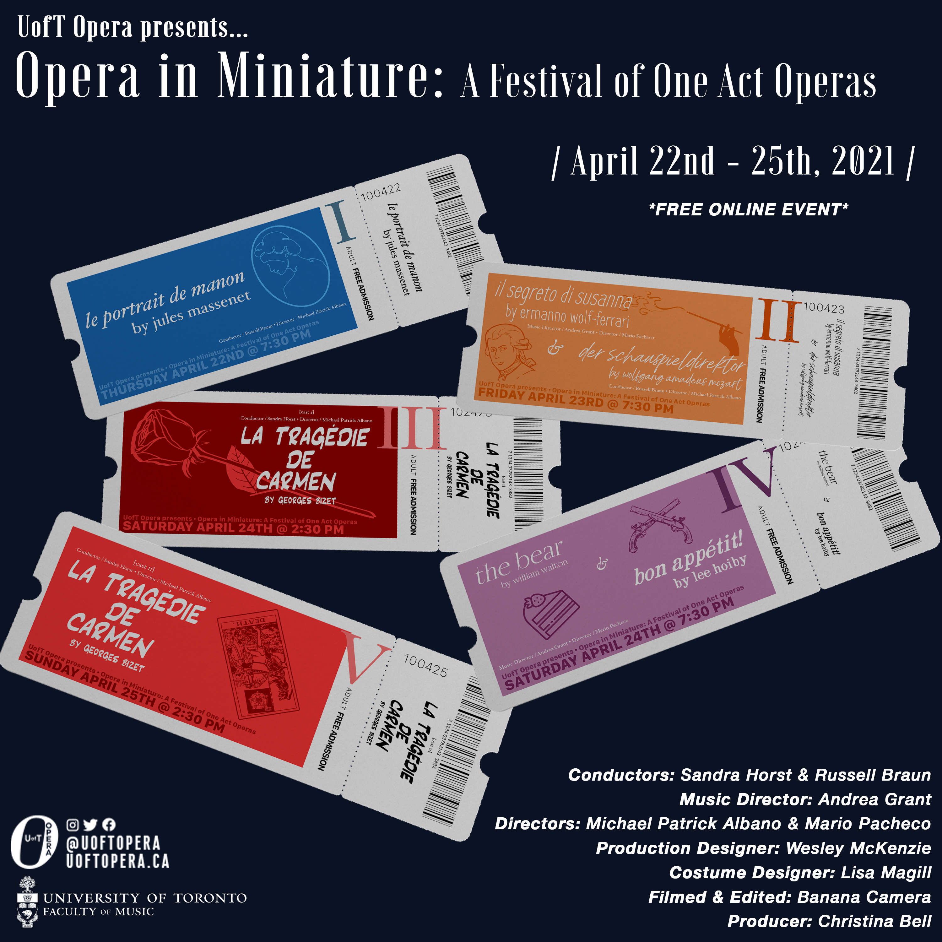 U of T Opera presents Opera in Miniature: An Evening of One Act Operas (online)